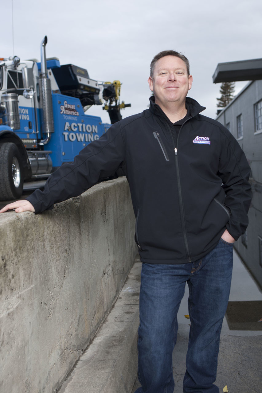 Brian Banks owner of Action Towing, Redwood City, Calif.