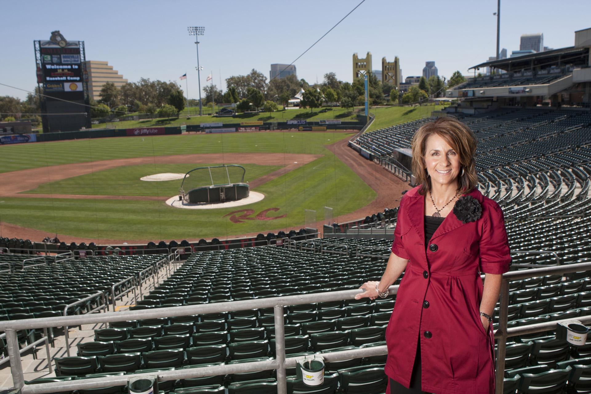 Policyholder Grace Bailey, Sacramento Rivercats